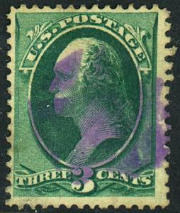 U.S. #136 Used Nice Blue Cancel