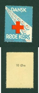 Denmark Poster Stamp  MNH. WWII Red Cross. KZ Camp Rescue  The White Busses.