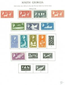 EDW1949SELL : SOUTH GEORGIA Small, clean all Very Fine, MOG collection. Cat $58
