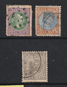 Netherlands Indies x 3 old better cv items used
