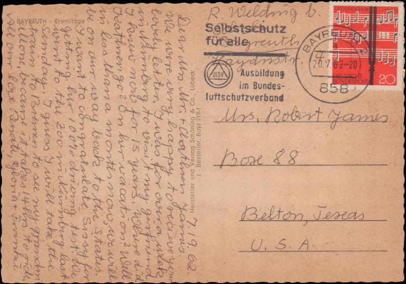 Germany Post-1950, Music, Picture Postcards