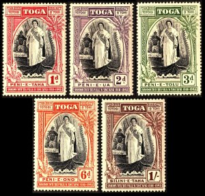 Tonga 1944 Siver Jubilee Queen Salote's Accession Sg83/Sg87 MM