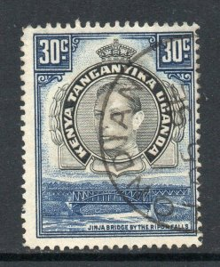 KUT 1938 KGVI 30c black & dull violet perf 14 SG 141a used