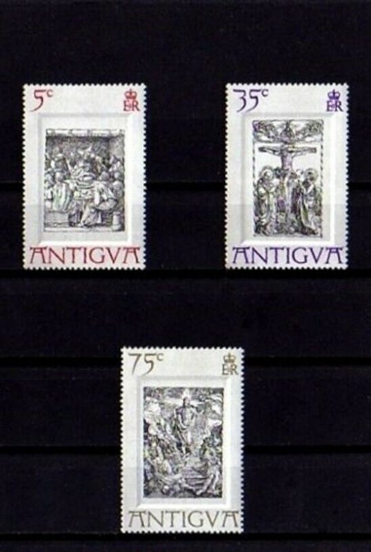 ANTIGUA - 1970 - EASTER - CRUCIFIXION - LAST SUPPER + DURER - MINT - MNH SET!