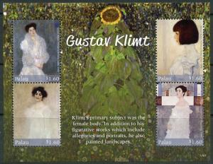 PALAU 2017 GUSTAV KLIMT SHEET MINT NEVER  HINGED