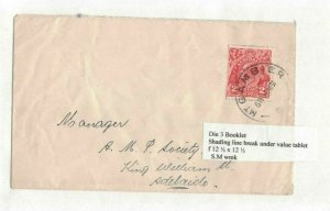 APH1357) Australia 1931 2d Red KGV Die III Small Cover