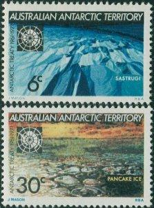 AAT 1971 Sc#L19-L20,SG19-20 Antarctic Treaty set MNH