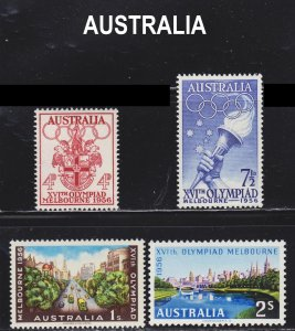 Australia Scott 288-91 complete set F to VF mint OG NH.
