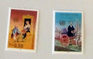 UN, Geneva - 191-92,  MNH Set. Crime Prevention. SCV - $4.25