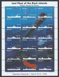 Palau #368 NH Lost Fleet of the Rock Islands - Sheetlet o...