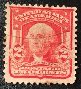 319 Washington 2C, Circ. Single, Carmine Type 1, NH, Vic's Stamp Stash