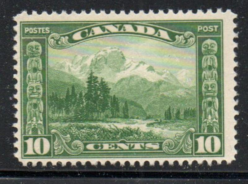 Canada Sc 155 1928 10c green Mt Hurd stamp mint NH