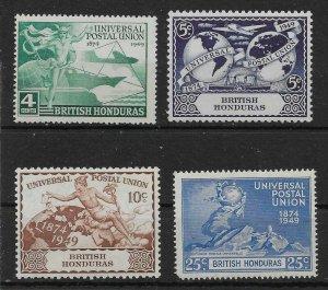 BRITISH HONDURAS SG172/5 1949 U.P.U. SET MTD MINT