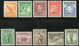 AUSTRALIA  SCOTT#178 MINT LIGHT HINGED,166/77 &79 MINT NH  SCOTT VALUE $2