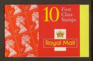 GB 1997 Barcode Booklet HD39 c£11