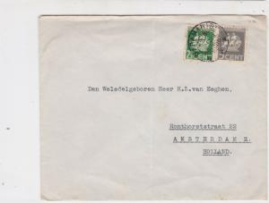 Suriname 1938 Paramaribo to Holland Stamps Cover ref 22353