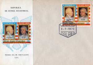 Equatorial Guinea 1975 American Bicentennial FDC Washington/Adams