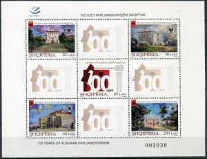Albania 2020. Centenary of the Albanian Parliament (MNH OG) Miniature Sheet