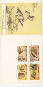 1980, Lesotho: Grass Work Products, FDC, Unaddressed (D6400)