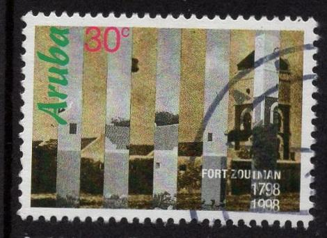 Aruba   #158   used  1998  Fort Zoutman 30c
