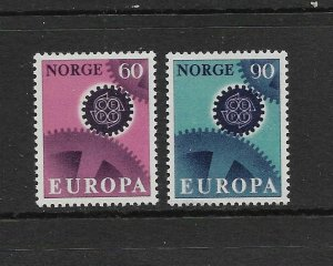 NORWAY - EUROPA 1967 - SCOTT 504 TO 505 - MNH