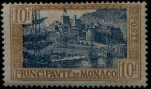 1924 MONACO #92 10fr PORT OF MONACO MH