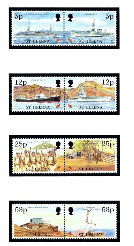 St Helena 647a-53a MNH 1995 End of WWII anniv in pairs
