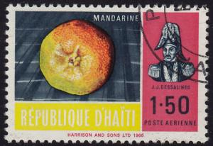 Haiti - 1967 - Scott #C279 - used - Fruit Tangerine