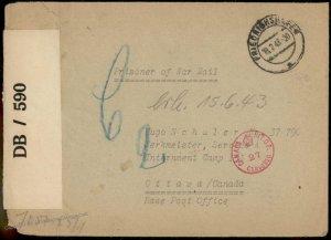 Germany WWII Kriegsgefangenen POW Ottawa Canada Cover G80889