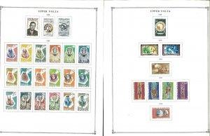 Upper Volta (Burkino Faso) Mint & CTO Hinged on Scott Int. Pages thru 1988