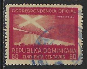 Dominican Republic O25 VFU COLUMBUS 315G-3