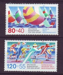 J24593 JLstamps 1987 germany set mnh #b652-3 sports