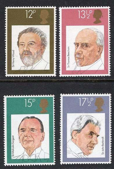 Great Britain    #920-923    1980    MNH   British conductors