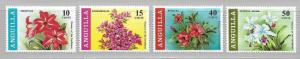 Anguilla 70-3 Flowers set MNH