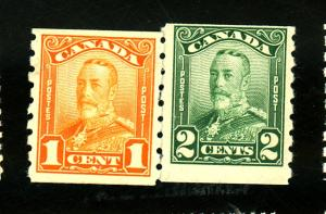 Canada #160-1 MINT F-VF OG HR Cat $80