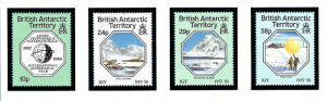 British Antarctic Territory 141-44 MNH 1987 Intl Geophysical Year