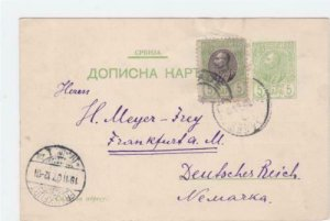 serbia early stamps card ref r15967