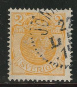 SWEDEN Scott 68 used 1910 stamp