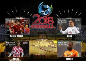 BURUNDI SHEET WORLD CUP RUSSIA SOCCER FOOTBALL SPORTS