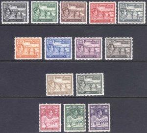 Turks & Caicos Is 1938 1/2d-10s Salt SG 194-205 Sc 78-89 LMM/MLH Cat£120($157)