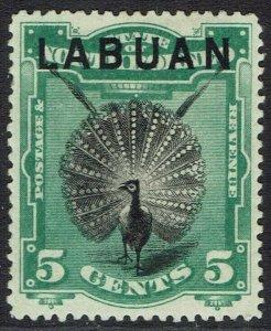 LABUAN 1894 BIRD 5C PERF 14.5 - 15