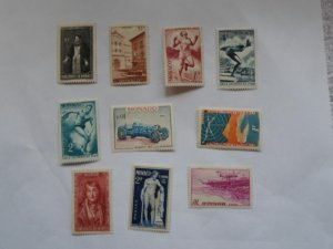 MONACO STAMPS. LOT OF 10 STAMPS # 4 LOT 3