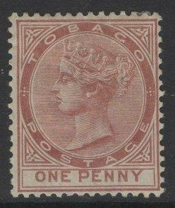 TOBAGO SG9 1880 1d VENETIAN RED MTD MINT
