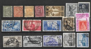Italy Used Lot of 31 Different Stamps 2018 CV $57.00