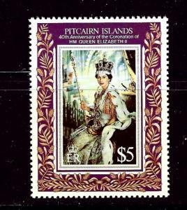 Pitcairn Is 383 MNH 1993 Queen Elizabeth II