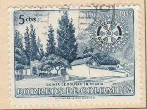 Colombia 1955 5c Fine Used A8P55F117