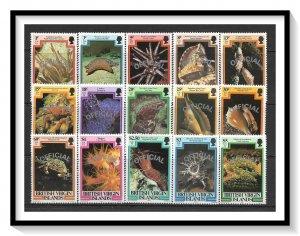 British Virgin Islands #O1-O15 Official Set MNH