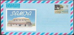 SAMOA 60s pictorial aerogramme - Vaisala beach - unused.....................L465