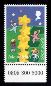 ISLE OF MAN  MNH** Scott 883 Europa 2000 stamp