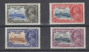 Gilbert & Ellice Islands KGV 1935 Silver Jubilee Set SG36/39 (MH) Rest MNH J7610